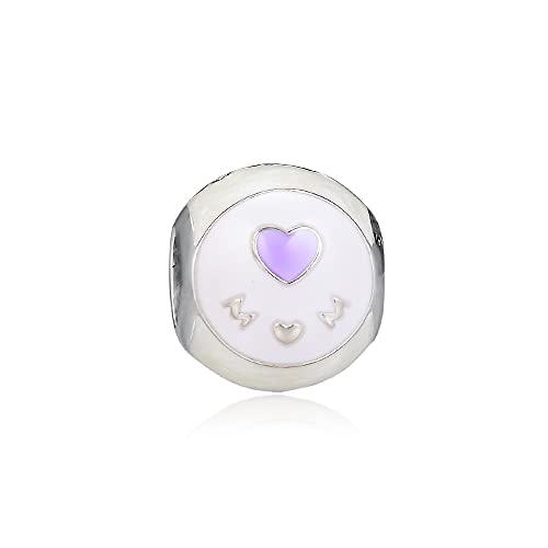 LIIHVYI Pandora Charms para Mujeres Cuentas Plata De Ley 925 Regalo De Joyería De Mamá De Amor De Esmalte Mixto Compatible con Pulseras Europeos Collars