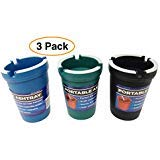 Pro Image Portable Car Ashtray (3 Pack) Vehicle auto Cup Holder Ashtrays