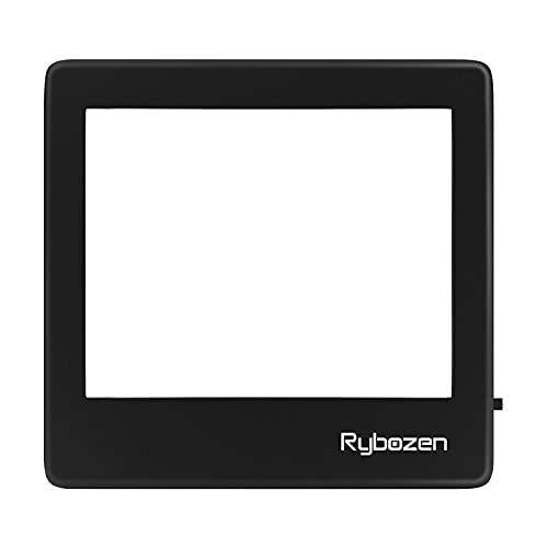Rybozen Scanner per diapositive portatile ultrasottile 5 x 4 pollici Pannello luminoso a LED per diapositive fotografiche Negativi e visualizzatore di film