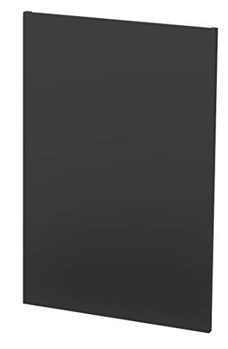 SO STEEL Panneau de Protection Thermique Mural et décoratif pour poele de Chauffage - 80 x 120 cm - Noir uni