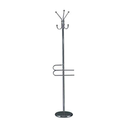 Piantana in metallo cromato con portasciugamani ed accappatoi 178 cm