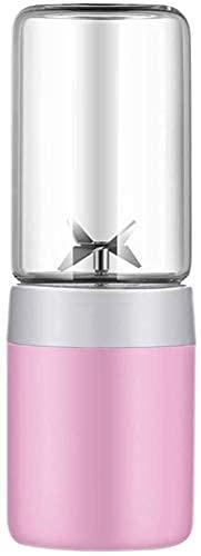 30 0ML Juicer Cup, mini extractor de licuadora de exprimidor portátil con USB Cable y 4 PCS Hojas, fruta doméstica para viajes de bebé, fácil de llevar, fácil de limpiar/rosado licuadora portátil ZJ