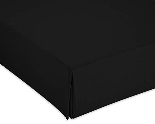 Cardenal Textil Liso Cubre Canape, Negro, Cama 135