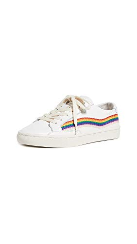 Soludos Women's Rainbow Wave Sneakers, White, 6.5 Medium US