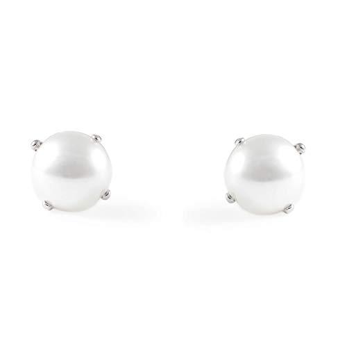 Monde Petit AG-1378 - Pendientes de bebe/niña plata de Perla 5 mm