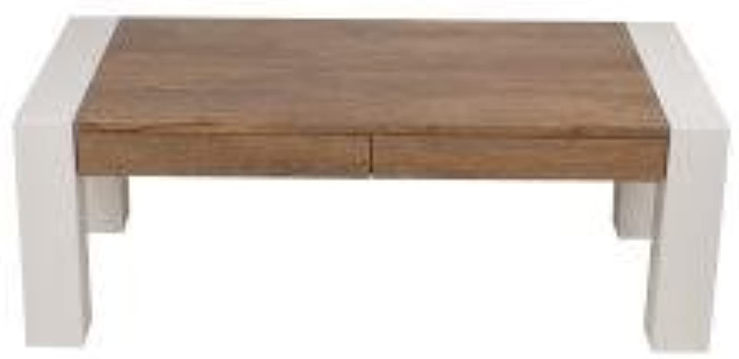 NEW Megan Coffee Table - Antique Oak   High Gloss White