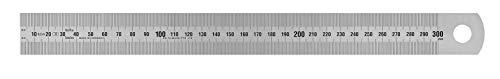 Vogel Germany Stahlmaßstab (Typ A, Messlänge 300 mm, Querschnitt 30 mm x 1,0 mm, rostfreier Federbandstahl, Ablesung Links nach rechts) 1018010030