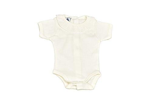 BABIDU 1193 Body m/Corta Cuello Batista Ropa de Bautizo, Beige (Beige 4), 92 (Tamaño del Fabricante:24) Unisex bebé