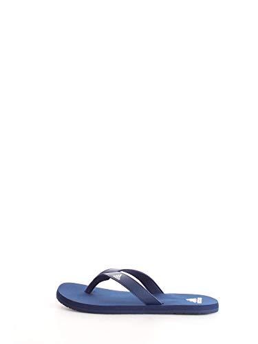 adidas Herren Eezay Flip Flop Badeschuhe, Blau (Footwear White/Dark Blue), 47 EU