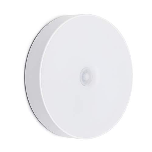 Fesjoy Luz de Noche LED, LED de Sensor de Movimiento Luz Nocturna USB Recargable Inducción del Cuerpo Humano Lámpara de Noche Redonda Magnetica Lámpara para niños en Cualquier Lugar Armario de Noche