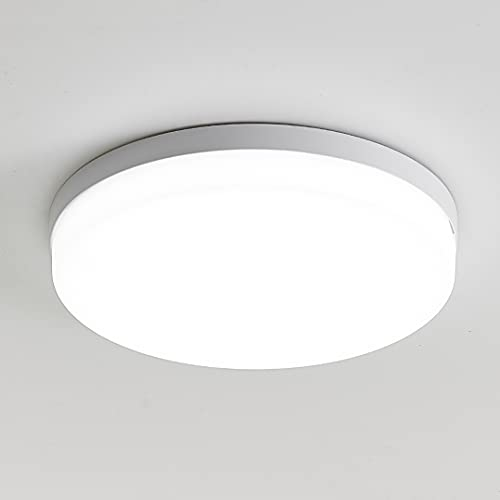 KSIBNW Lámpara de Techo LED para Baño,3240LM, Equivalente a 150 W, Impermeable IP54, Blanco frío 6500K,Lámpara de Techo para Montaje Empotrado en Interiores,Lámpara de Techo Redonda para Sótano