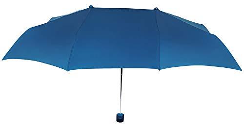 Práctico y Original Paraguas Vogue Plegable para Dos Personas, con protección Solar, antiviento y Acabado Teflón Que repele el Agua. Llévatelo de Viaje. (Azul)