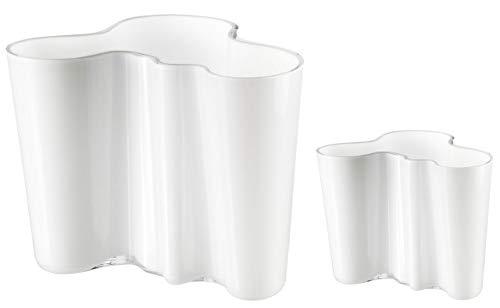 Iittala Alvar Aalto Vasen 2er-Set opalweiß 160mm und 95mm