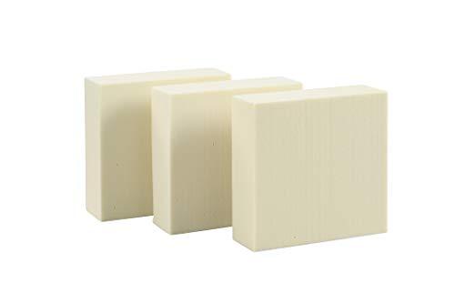 Sculpture Block SB 151550 Hartschaumblock, Modellierblock zum anfertigen von Figuren, Objekte, Modelle, 15cm x 15cm x 5cm, 3 Blöcke