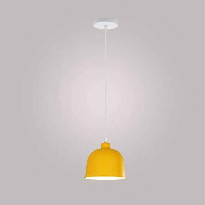 Xiao Fan  Restaurante Moderno Techo metálico Lámpara Colgante Lámpara de suspensión Decoración Almacén Cocina Dormitorio Sala de Estar Bar Café Araa Pequeña (Color  Amarillo)