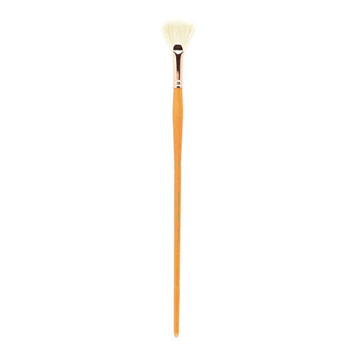 Princeton Refine Artist Brush, Brushes for Oil and Acrylic Paint, Series 5400 Natural Chunking Bristle, Fan, Size 6