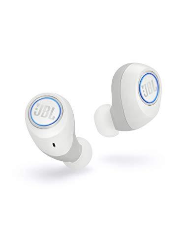 JBL Free X Cuffie In-Ear Wireless, Auricolari Bluetooth Senza Fili per Musica, Chiamate e Sport, Cuffie Intrauricolari Bluetooth Resistenti al sudore (IPX5) con Vivavoce integrato, Bianco