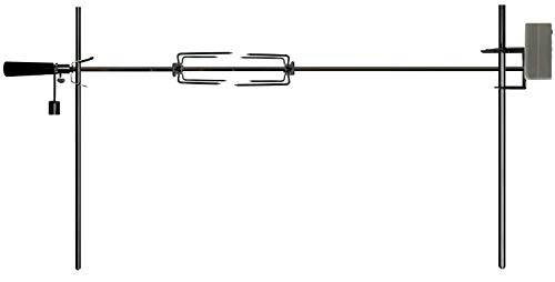 OneGrill Electric Dual Post Open Fire Rotisserie System- 53 Inch Chrome