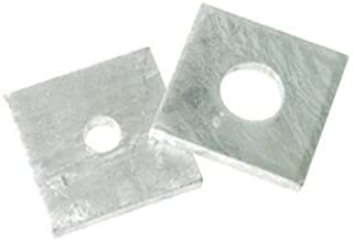 Metric DIN 435 M10 I-Tapered Square Washer 50 pcs Steel Steel Zinc Plated