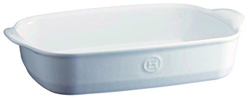 Emile Henry EH119652 - Bandeja de horno rectangular (cerámica, 36 x 23 x 7 cm), color blanco