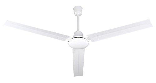 Zephir ZFS8120 Ventilatore Da Soffitto In Metallo, Bianco