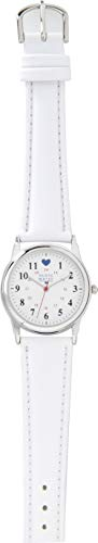 Nurse Mates Military Dial with Blue Heart Watch (White)