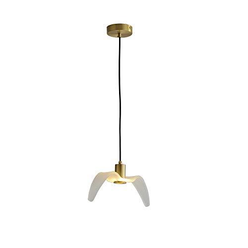 LURUZA Moderno LED Lampada a Sospensione Creativo Forma di Gabbiano Design più Decorativo Lampada Lampadario Rame e Acrilico Luce Pendente per Hotel Camera da Letto Soggiorno Sala da Pranzo,1~Light