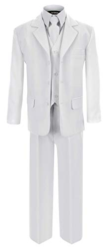 G230 White First Communion and Wedding Suit Set for Boys (8)