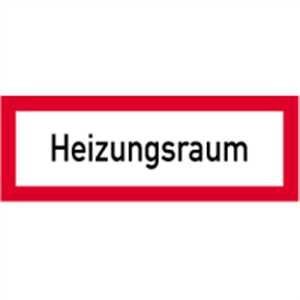 Aufkleber Heizungsraum gemäß DIN 4066, Folie selbstklebend 10,5 x 29,7 cm (Brandschutzschild) praxisbewährt, wetterfest