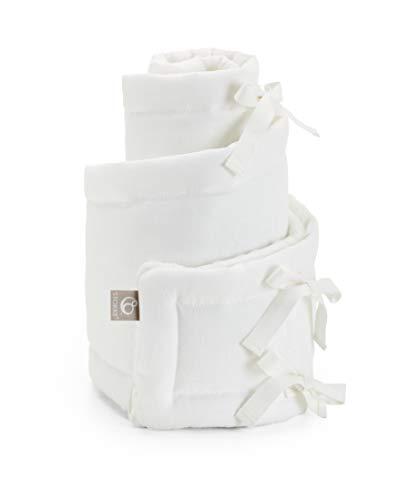 STOKKE® Sleepi™ Mini cuna – Nido ovalado de algodón y lino – Accesorios para la cuna Stokke® Sleepi™ Mini – Color Blanco