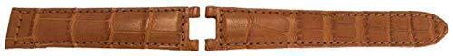 Watch Strap Made by W&CP to fit Cartier Pasha Watch Strap Cognac Genuine Alligator 20mm