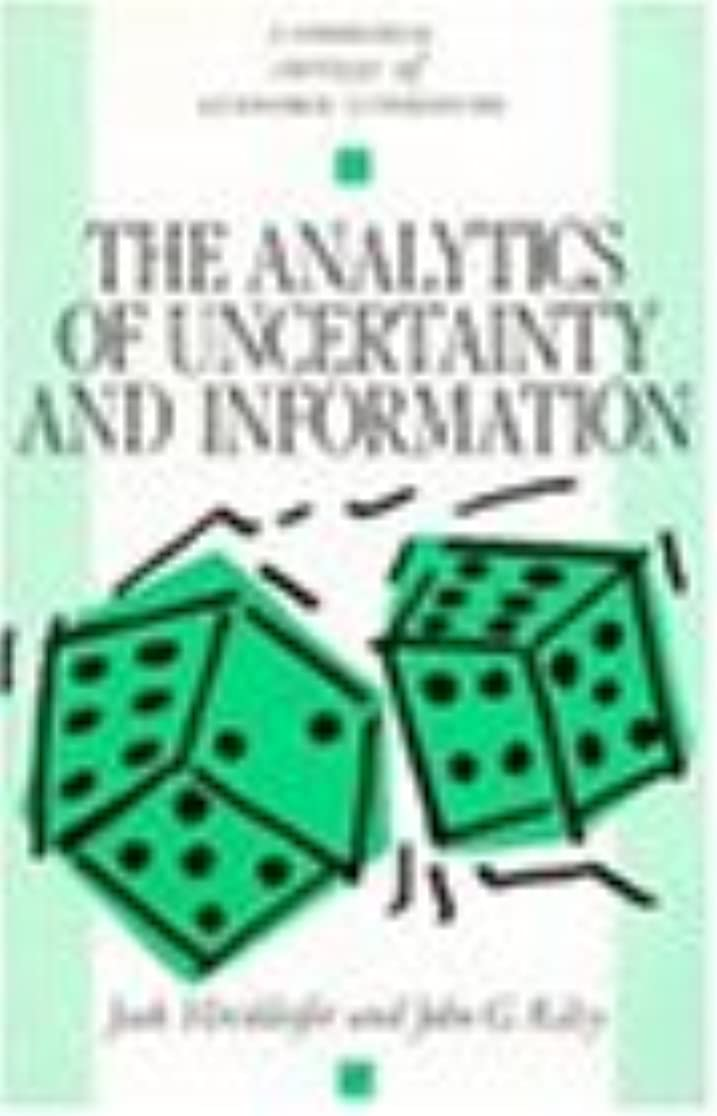 流暢チャップピースThe Analytics of Uncertainty and Information (Cambridge Surveys of Economic Literature)