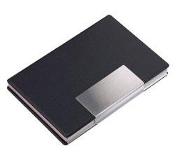 PORTA BIGLIETTI DA VISITA, materiale alluminio con incisione personalizzata.