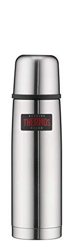 THERMOS 4019.205.050 Thermosflasche Light & Compact, Edelstahl mattiert 0,55 l, Spülmaschinenfest, 12 Stunen heiß, 24 Stunden kalt