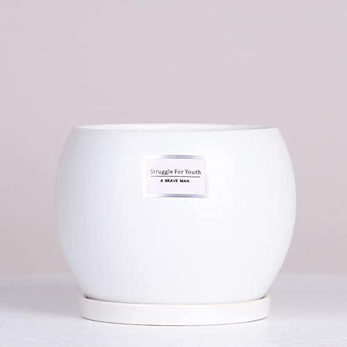 TREEECFCST Macetas De Ceramica Macetero Macetas con Orificios de Drenaje Macetas de cerámica Macetas de jardín al Aire Libre Macetero Grande de cerámica con gradas para Interiores y Exteriores 915(