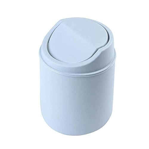 Mini cestino da scrivania, in plastica girevole con coperchio, cestino staccabile, adatto per piani di lavoro in cucina, ufficio, piccole bidoni della spazzatura sulla scrivania del computer