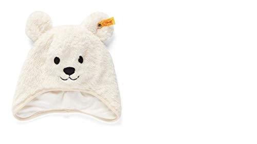 Steiff Baby Mütze Plüsch Teddy, Cloud Dancer mit Baumwollfutter L001921401 Gr.51