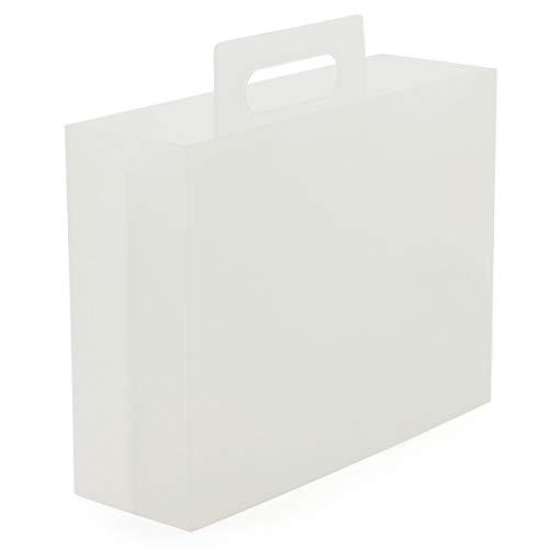 無印良品 ポリプロピレン持ち手付きファイルボックス・スタンダードタイプ 約幅10×奥行32×高さ28.5cm 38654834