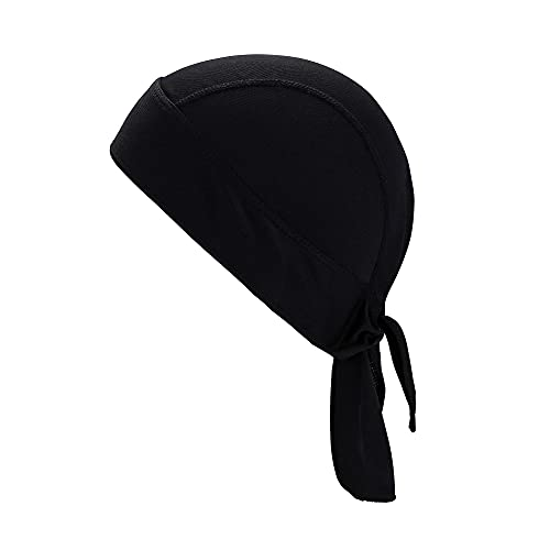 Faletony Gorra deportiva, pañuelo pirata, sombrero de deporte, accesorio para motero, cinta la cabeza, ciclismo, motocicleta, cabeza Negro X-Large