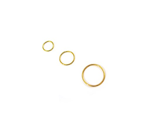 K.R.A.R-Collection 18k Gold Plated Nose Ring Septum Hoop Cartilage Tragus Helix Eyebrow Piercing 8mm 10mm 12mm 18g 20g 22g (18G(1mm) x 8mm)