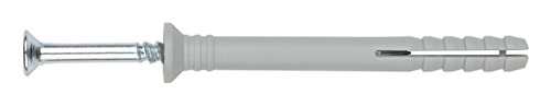 INDEX Fixing Systems VTCCA08060 [TC-CA] clavable de poliamida 6.6, premontado con tornillo rosca-arpón. Taco con cabeza avellanada (8 x 60 Ø8), 8 x 60 mm, diámetro de 8 mm