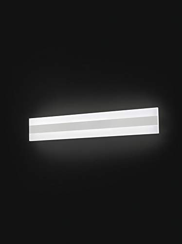 PERENZ Lampada da parete LED 30W 1800Lm 4000K Applique rettangolare in Metallo e Plexiglass Misure LxHxP 60x10x5,5 cm