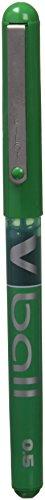 Pilot Vball - Bolígrafo roller (punta de metal extra fina, 0,5 mm) color verde, única (BL-VB5)