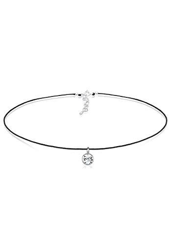 Elli Halskette Damen Choker mit Kristallen in 925 Sterling Silber