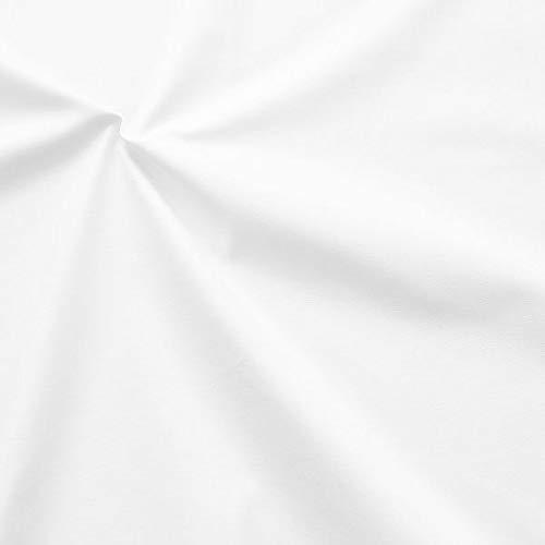 STOFFKONTOR 100% Baumwolle Inlett Einschütte Stoff sanforisiert Meterware Weiss Gebleicht