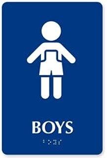 ADA Braille Boy Restroom Symbol ESW-ADA-B