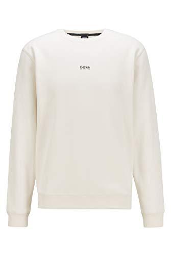 BOSS Herren Weevo Sweatshirt aus Baumwoll-Mix mit Terry-Struktur