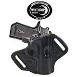 Kimber Micro 9 mm 3.15' Barrel NO Laser Grips OWB NO Shield Leather Holster R/H Black 1173