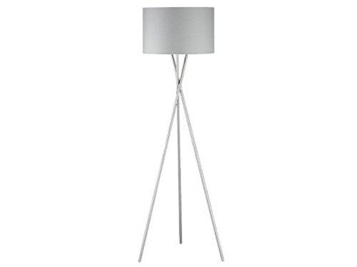 Moderne design vloerlamp met grijze stoffen kap Ø 54 cm en E27 LED