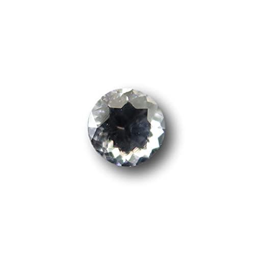 岐阜県 神岡鉱山 栃洞坑産 水晶 4mmラウンド ファセットカットルース 0.3ct 【榎本通商 16018】